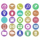 Coleção de ícones do negócio no projeto liso Imagens de Stock