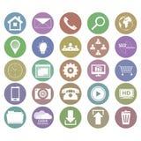 Coleção de ícones do negócio no projeto liso Fotos de Stock