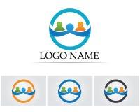 Coleção de ícones dos povos no círculo - Vector a comunidade, empresa, estrela, incorporada, Imagem de Stock