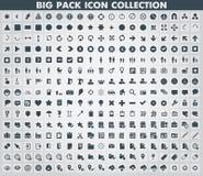 Coleção de ícones lisos Fotografia de Stock Royalty Free