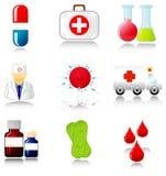 Coleção de ícones médicos ilustração stock