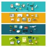 Coleção de ícones modernos do conceito no projeto liso ilustração do vetor