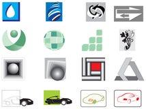 Coleção de 16 vetor-ícones Fotografia de Stock Royalty Free