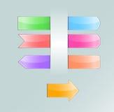 Coleção de abas coloridas Foto de Stock Royalty Free