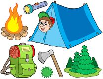 Coleção de acampamento Foto de Stock