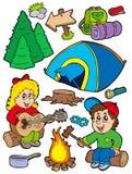 Coleção de acampamento do feriado Imagens de Stock Royalty Free