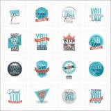 A coleção de agradece-lhe projetos de cartão Imagem de Stock