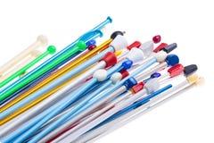 Coleção de agulhas de confecção de malhas diferentes Imagens de Stock