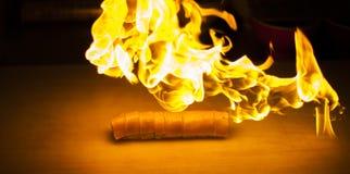 Coleção de alta resolução do fogo isolada no fundo preto imagem de stock royalty free