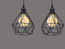 Coleção de ampolas e de lâmpadas dos símbolos do vintage Edison Light ilustração do vetor
