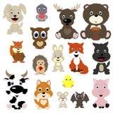 Coleção de animais bonitos Imagens de Stock Royalty Free