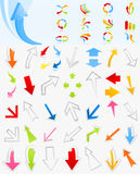 Coleção de arrows4 Fotos de Stock