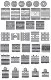 Coleção de arte do nativo americano ilustração royalty free