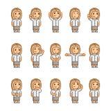 Coleção de arte do pixel de emoções diferentes Fotos de Stock