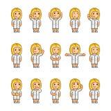 Coleção de arte do pixel de emoções diferentes Imagem de Stock Royalty Free
