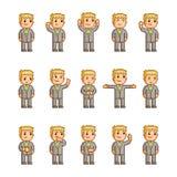 Coleção de arte do pixel de emoções diferentes Fotos de Stock Royalty Free