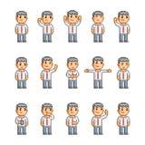 Coleção de arte do pixel de emoções diferentes Foto de Stock