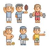 Coleção de arte do pixel de vários esportes Imagens de Stock