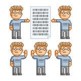 Coleção de arte do pixel dos programadores Fotos de Stock Royalty Free