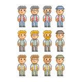 Coleção de arte do pixel para o negócio Imagem de Stock Royalty Free