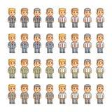 Coleção de arte do pixel para o negócio Fotos de Stock Royalty Free