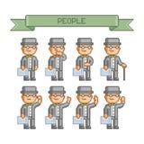 Coleção de arte do pixel retro Imagem de Stock Royalty Free