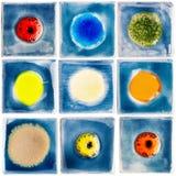 Coleção de azulejos vitrificados feitos a mão Fotos de Stock Royalty Free