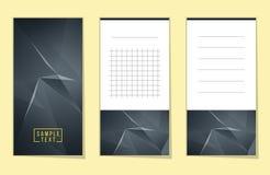 Coleção de baixas notas polis do espaço poligonal abstrato Imagens de Stock Royalty Free
