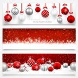 Coleção de bandeiras do Natal Foto de Stock Royalty Free