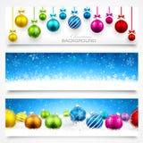 Coleção de bandeiras do Natal Imagens de Stock Royalty Free