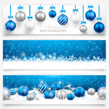 Coleção de bandeiras do Natal Fotografia de Stock