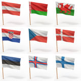 Coleção de bandeiras européias ilustração stock
