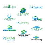 Coleção de bio logotipos Fotografia de Stock