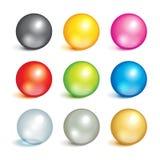 Coleção de bolas coloridas Fotografia de Stock Royalty Free