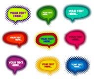 Coleção de bolhas coloridas do discurso Fotografia de Stock