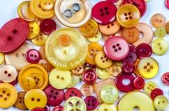 Coleção de botões velhos Foto de Stock