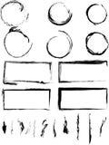 Coleção de círculos e de beiras sujos ilustração do vetor