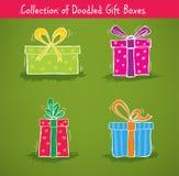 Coleção de caixas de presente Imagem de Stock