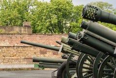 Coleção de canhões da segunda guerra mundial nas forças armadas de Belgrado Fotos de Stock Royalty Free