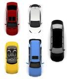 Coleção de carros coloridos Foto de Stock Royalty Free