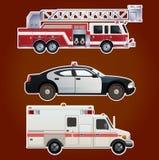 Coleção de carros da emergência Fotografia de Stock