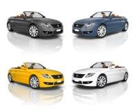 Coleção de carros modernos bonitos Imagem de Stock