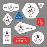 Coleção de cartões da torre Eiffel Imagens de Stock Royalty Free