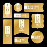 Coleção de cartões do logotipo e de texto da amostra Fotos de Stock Royalty Free