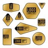 Coleção de cartões do logotipo e de texto da amostra Foto de Stock Royalty Free