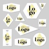 Coleção de cartões do logotipo e de texto da amostra Fotografia de Stock Royalty Free