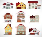 Coleção de casas urbanas Fotografia de Stock Royalty Free