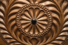 Coleção de Ceilão: Cinzeladura de madeira fotografia de stock royalty free