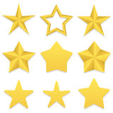 Coleção de cinco estrelas do ponto Fotografia de Stock