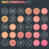 Coleção de compra Inline dos ícones, ícones lineares na moda ilustração stock
